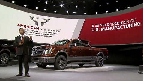 2016 Nissan Titan XD makes world debut at North American Interna