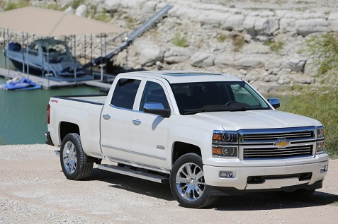 2015 Chevrolet Silverado High Country white
